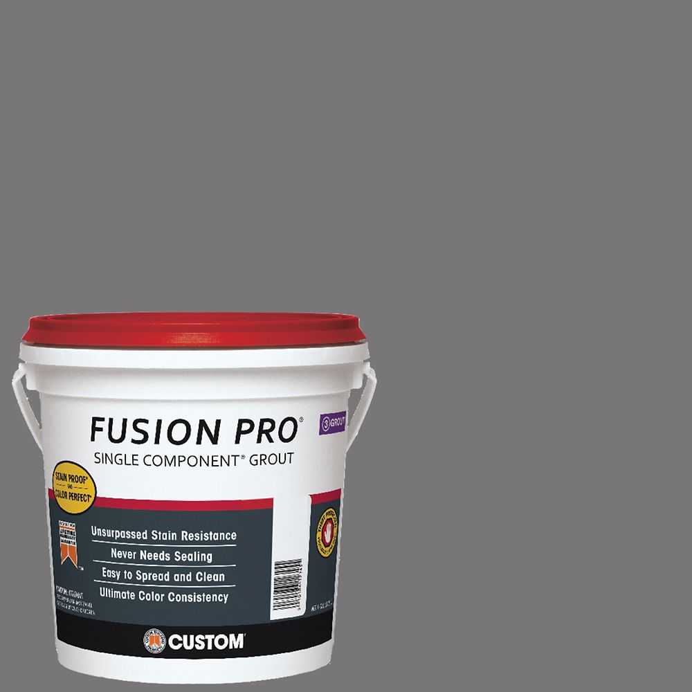 Custom Building Products #19 Pewter Fusion PRO - 1 Gal.