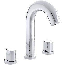 KOHLER Oblo 2-Handle Deck-Mount Tub Faucet