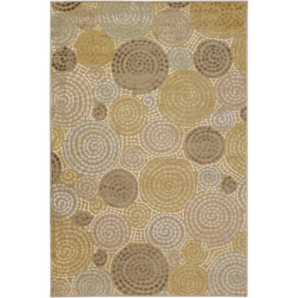 Tapis Atherton brun clair viscose / chenille en acrylique  - 2 pieds 2 pouces x 3 pieds