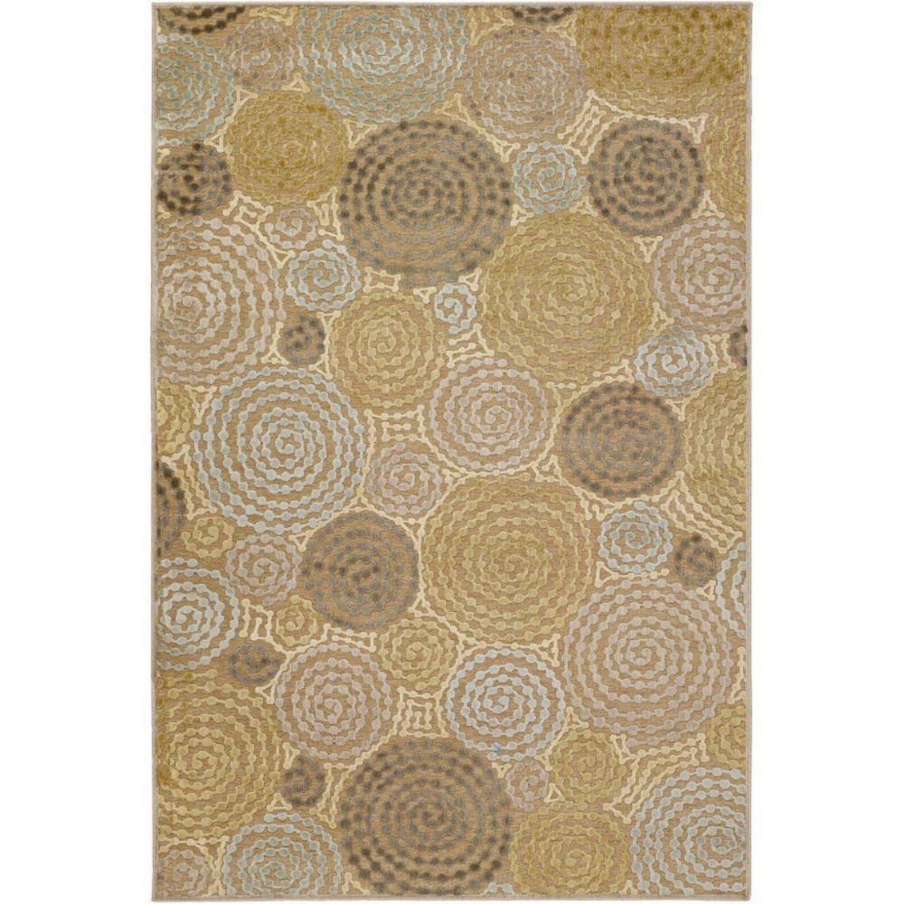Atherton Tan viscose / chenille en acrylique Area Rug - 7 Feet 6 Inches x 10 Feet 6 Inches Atherton-76106 Canada Discount