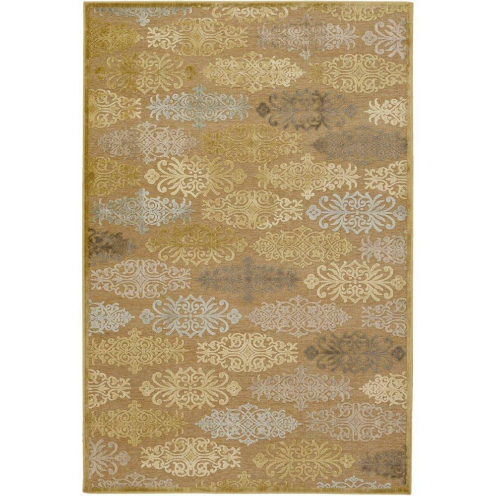 Avalon Tan viscose / chenille en acrylique Area Rug - 7 Feet 6 Inches x 10 Feet 6 Inches Avalon-76106 in Canada