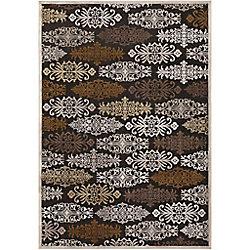 Artistic Weavers Carpette d'intérieur, 2 pi 2 po x 3 pi, style transitionnel, rectangulaire, noir Azusa