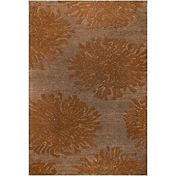 Artistic Weavers Carpette d'intérieur, 2 pi x 3 pi, style transitionnel, rectangulaire, orange Beaumont
