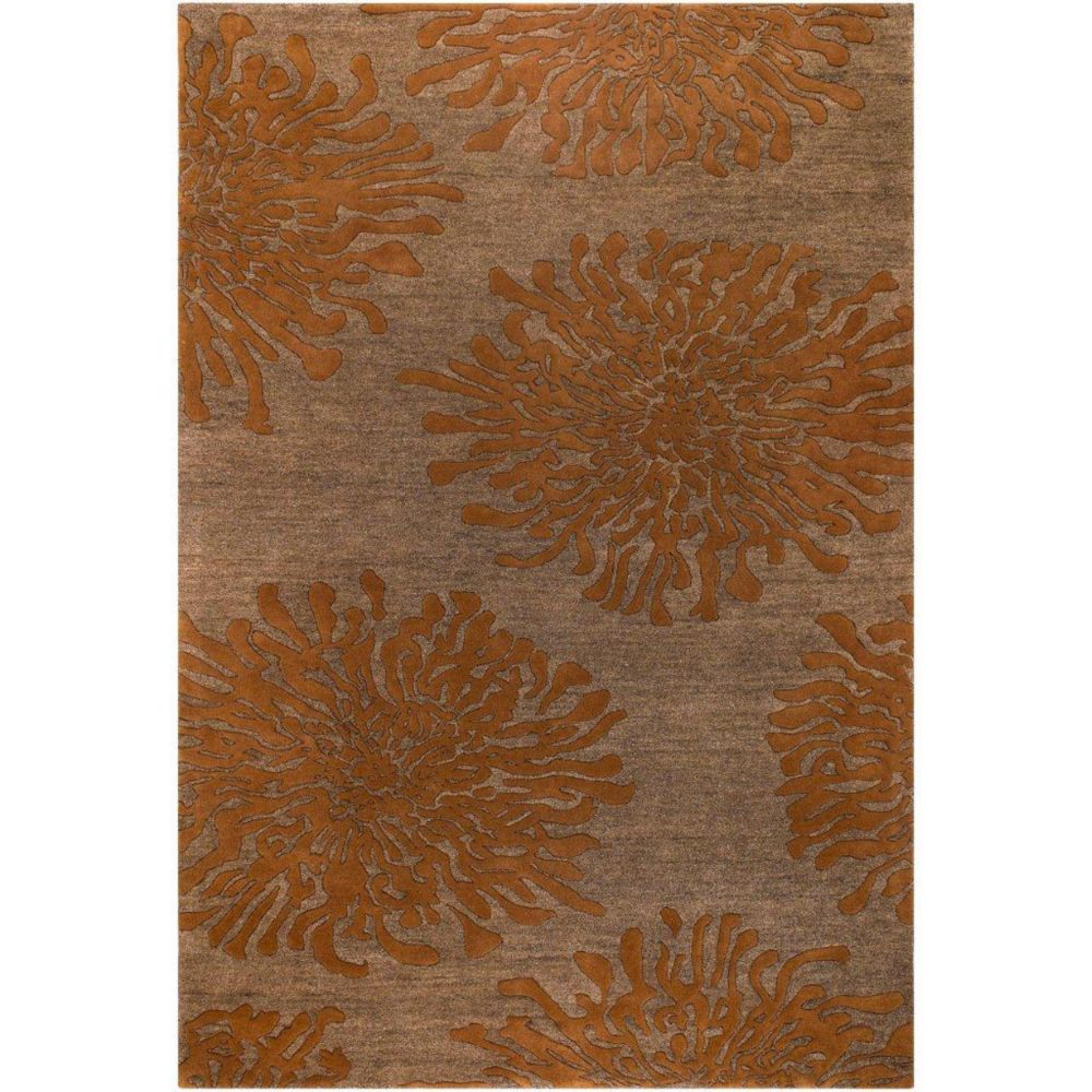 Tapis Beaumont brun en laine de Nouvelle-Zélande 8 Pi. x 11 Pi.