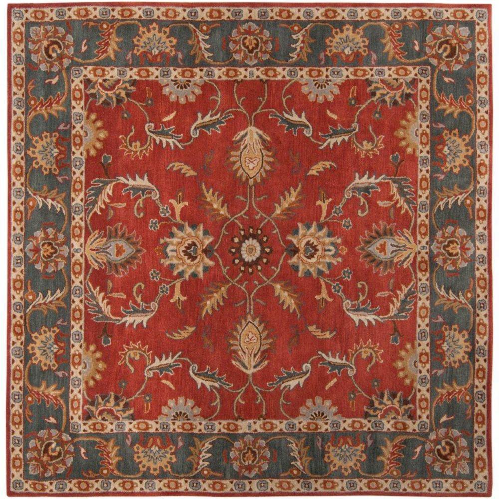 Bradbury Rust Red Wool Square  - 9 Ft. 9 In. Area Rug