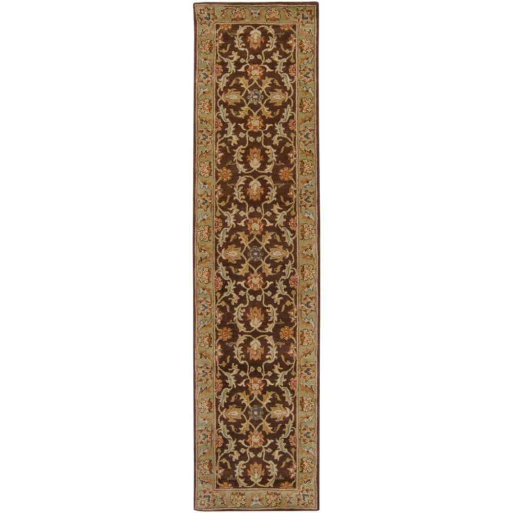 Brawley Chocolate Wool Runner - 2 Ft. 6 In. x 8 Ft. Area Rug
