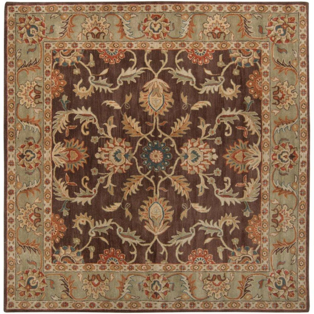 Brawley Chocolate Wool Square  - 4 Ft. Area Rug