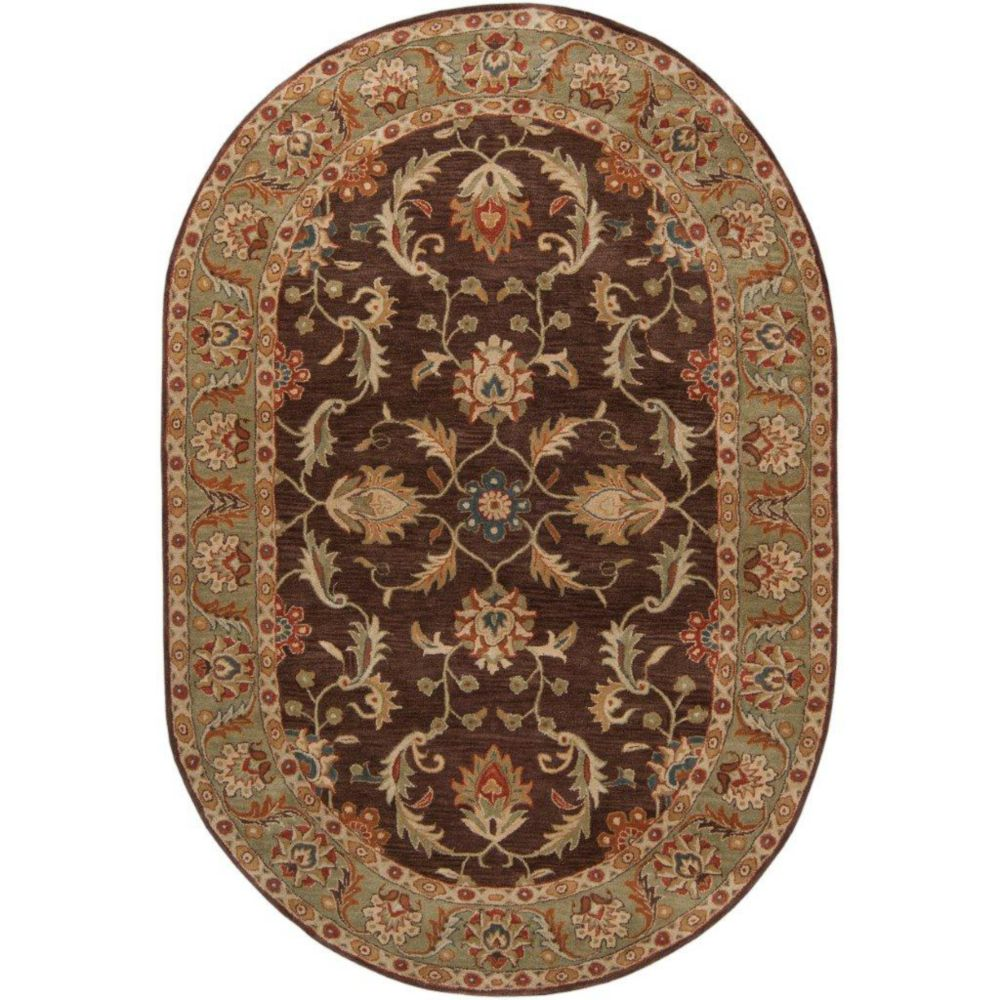Brawley Chocolate Wool Oval  - 6 Ft. x 9 Ft. Area Rug