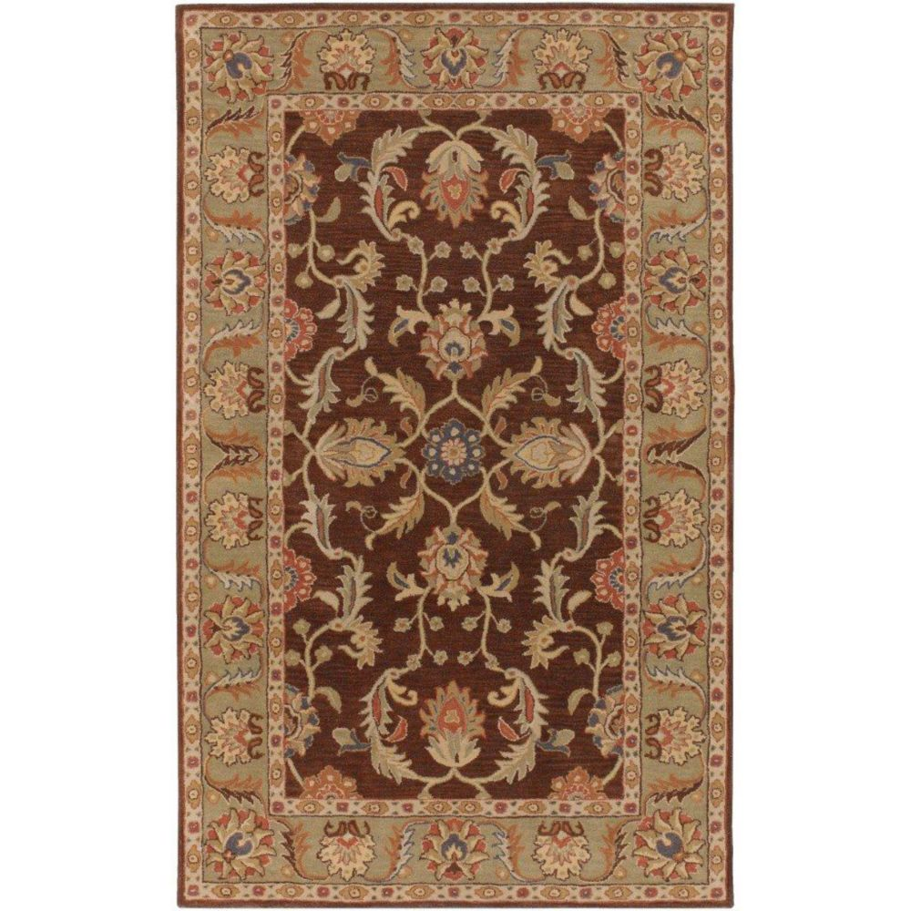 Brawley Chocolate Wool  - 7 Ft. 6 In. x 9 Ft. 6 In. Area Rug