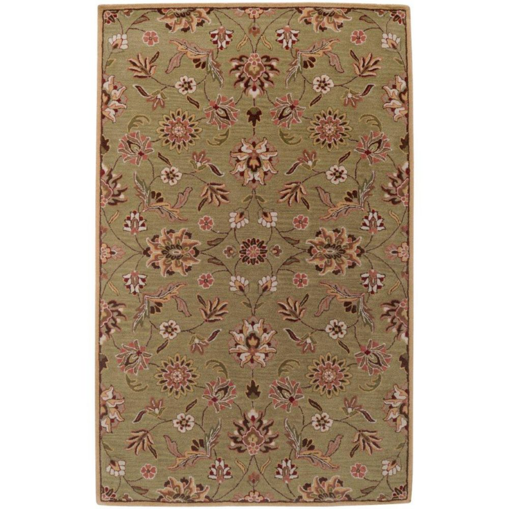 Vaire Gold Wool  - 5 Ft. x 8 Ft. Area Rug