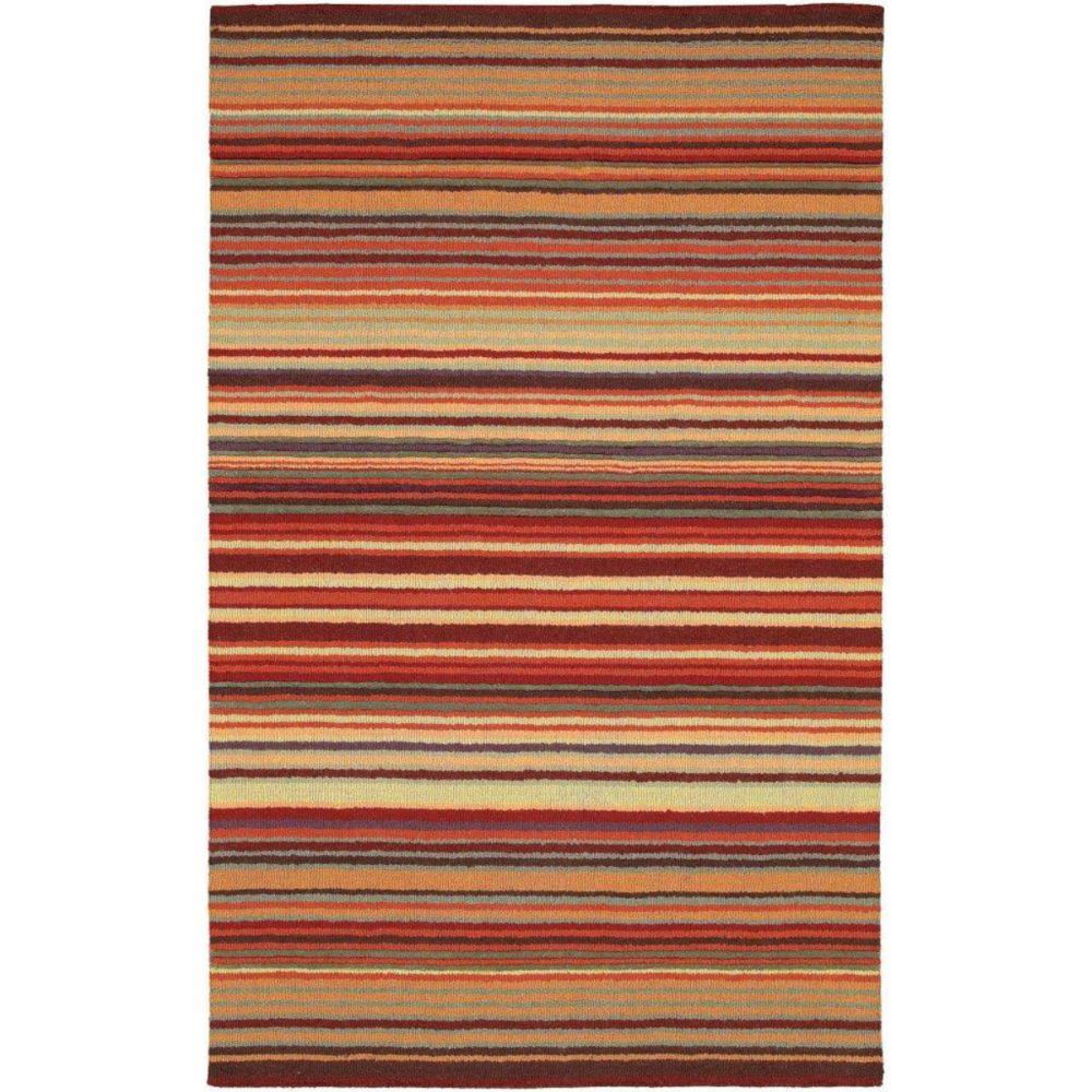 Artistic Weavers  Tapis Valanjou bourgogne en laine 8 Pi. x 11 Pi.