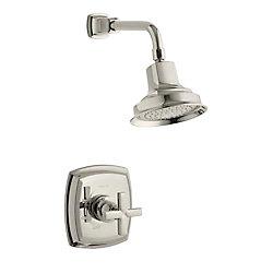 KOHLER Margaux Rite-Temp garniture de robinet de douche à équilibrage de pression avec poignée en croix, vanne non incluse