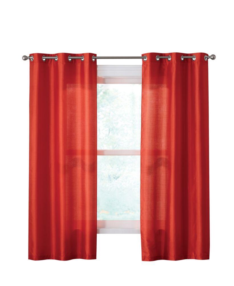 Panneau à oeillets, Paire, Rouge - 193 cm X 213 cm