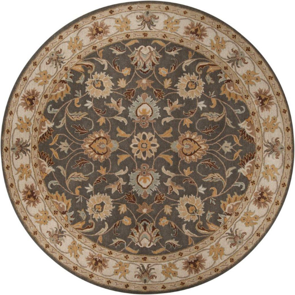 Berkeley Charcoal Wool Round  - 9 Ft. 9 In. Area Rug
