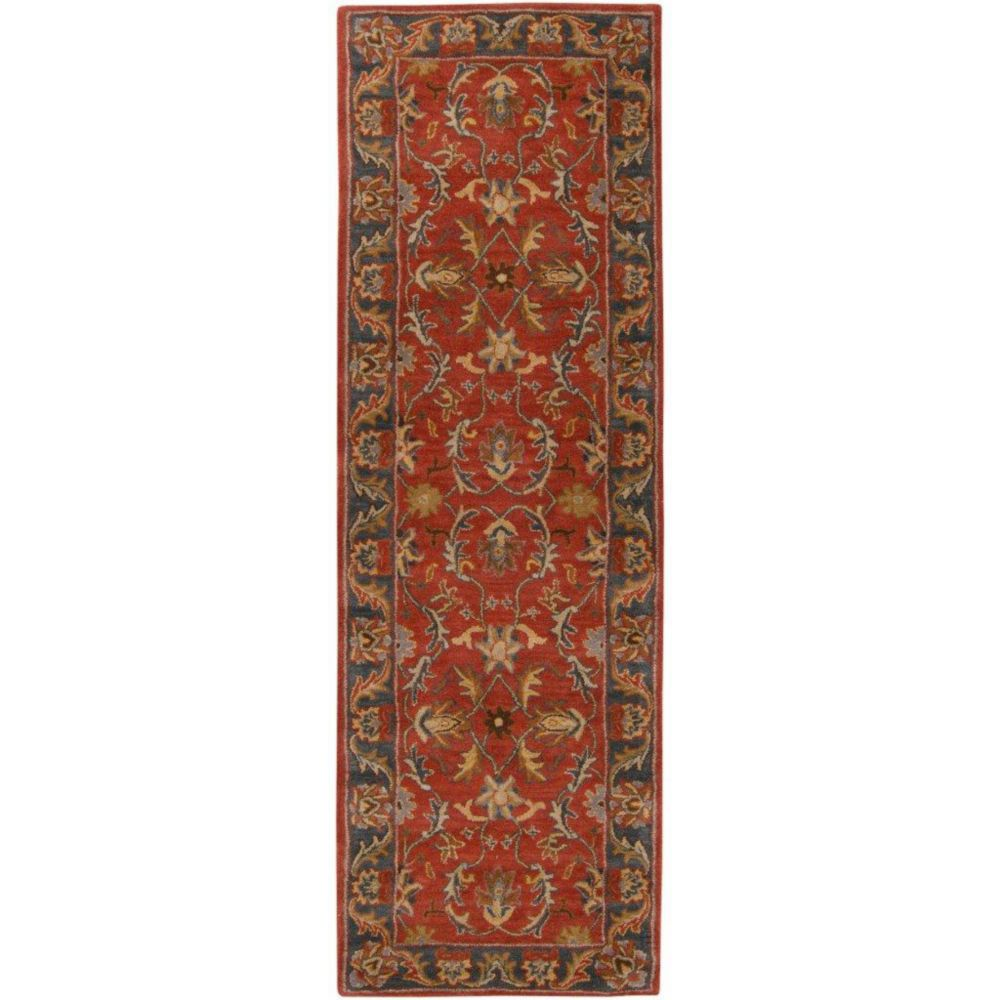 Bradbury Rust Red Wool Runner - 2 Ft. 6 In. x 8 Ft. Area Rug