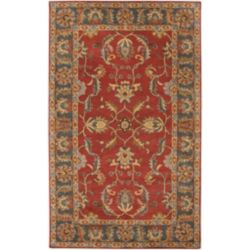 Artistic Weavers Bradbury Red 6 ft. x 9 ft. Indoor Traditional Rectangular Area Rug