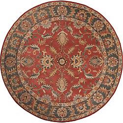 Artistic Weavers Bradbury Red 6 ft. x 6 ft. Indoor Traditional Round Area Rug