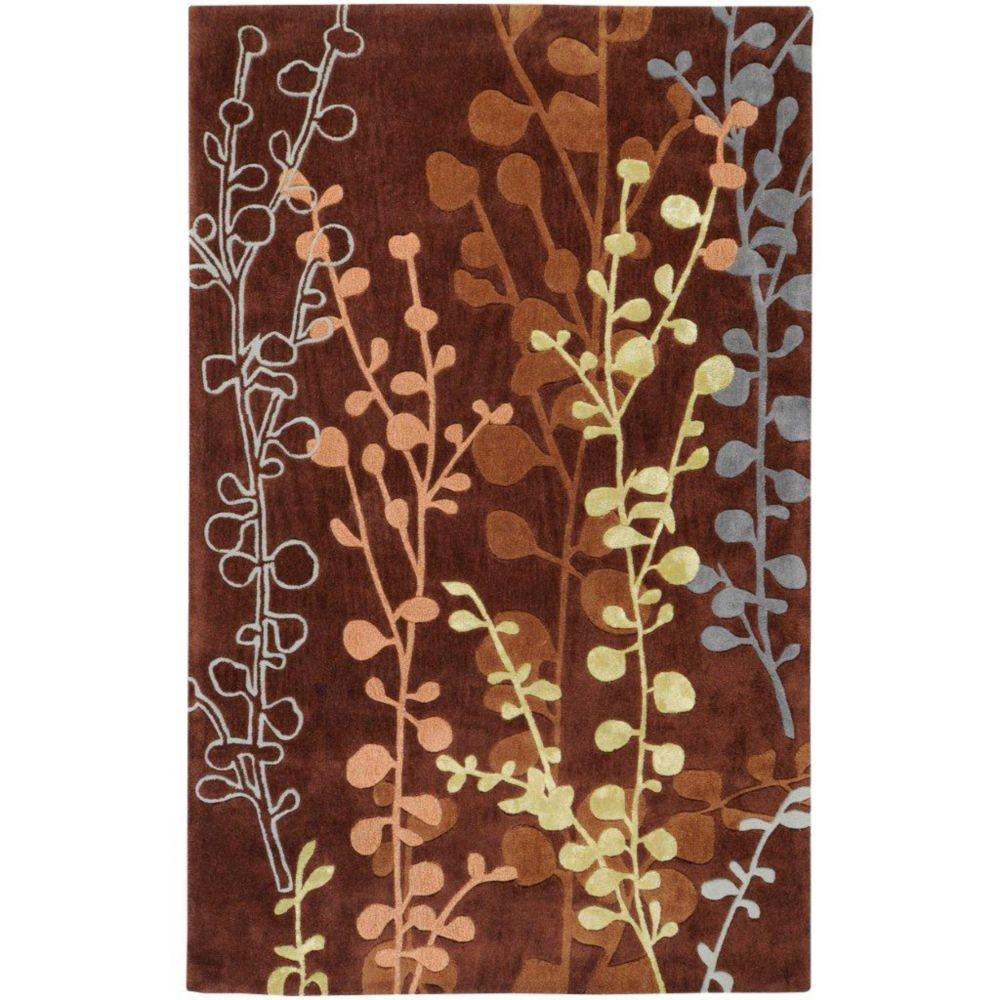 Artistic Weavers Panazol Brown 5 ft. x 8 ft. Indoor Transitional Rectangular Area Rug