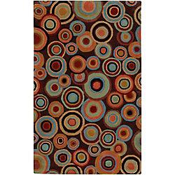 Artistic Weavers Carpette d'intérieur, 9 pi x 13 pi, style contemporain, rectangulaire, brun Panissieres