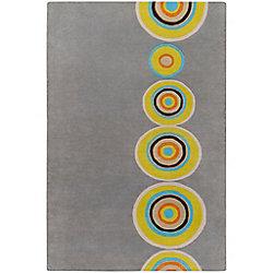 Artistic Weavers Carpette d'intérieur, 2 pi x 3 pi, style contemporain, rectangulaire, gris Pannece
