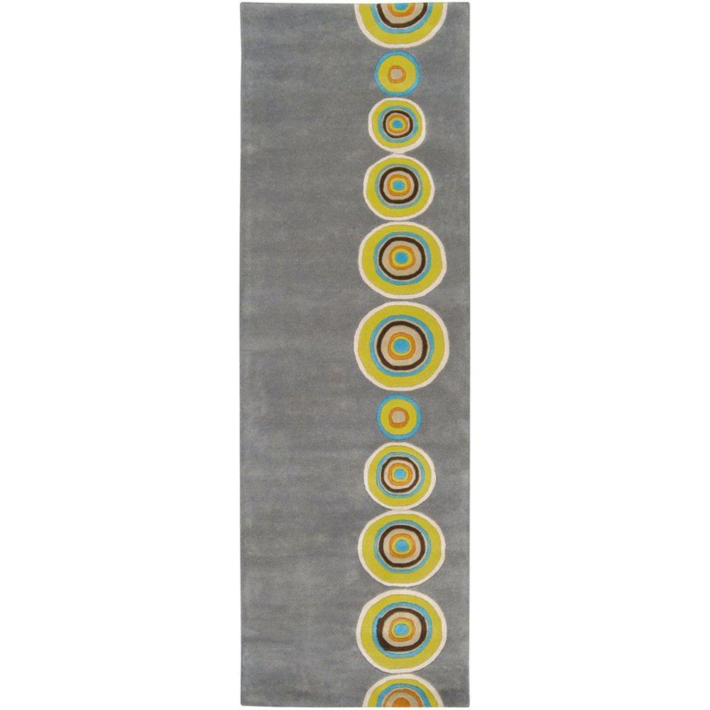 Pannece Gray New Zealand Wool 2 Ft. 6 In. x 8 Feet Runner Pannece-268 Canada Discount