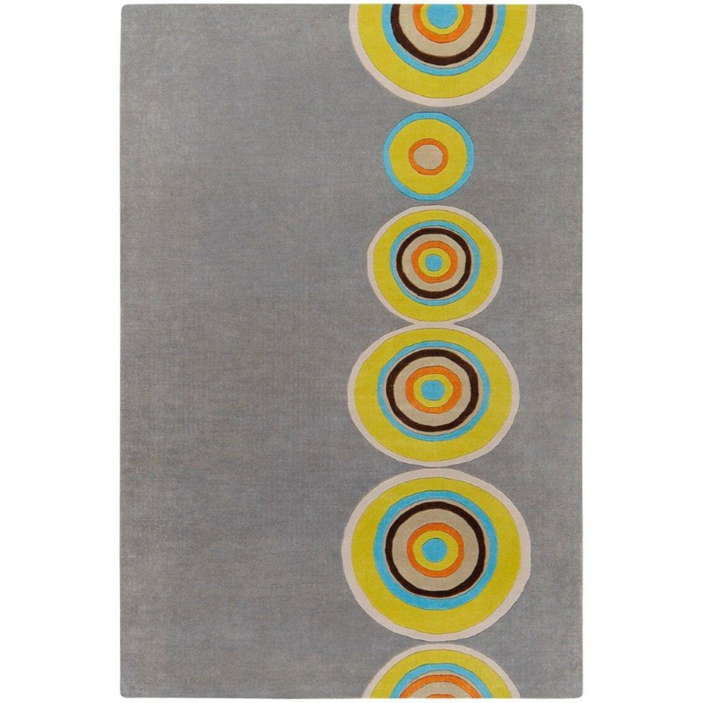 Pannece Gray New Zealand Wool 5 Ft. x 8 Ft. Area Rug Pannece-58 Canada Discount