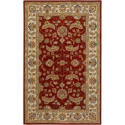 Artistic Weavers Carpette d'intérieur, 5 pi x 8 pi, style traditionnel, rectangulaire, rouge Brisbane