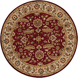 Artistic Weavers Brisbane Red 6 ft. x 6 ft. Indoor Traditional Round Area Rug