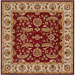 Artistic Weavers Brisbane Red 6 ft. x 6 ft. Indoor Traditional Square Area Rug