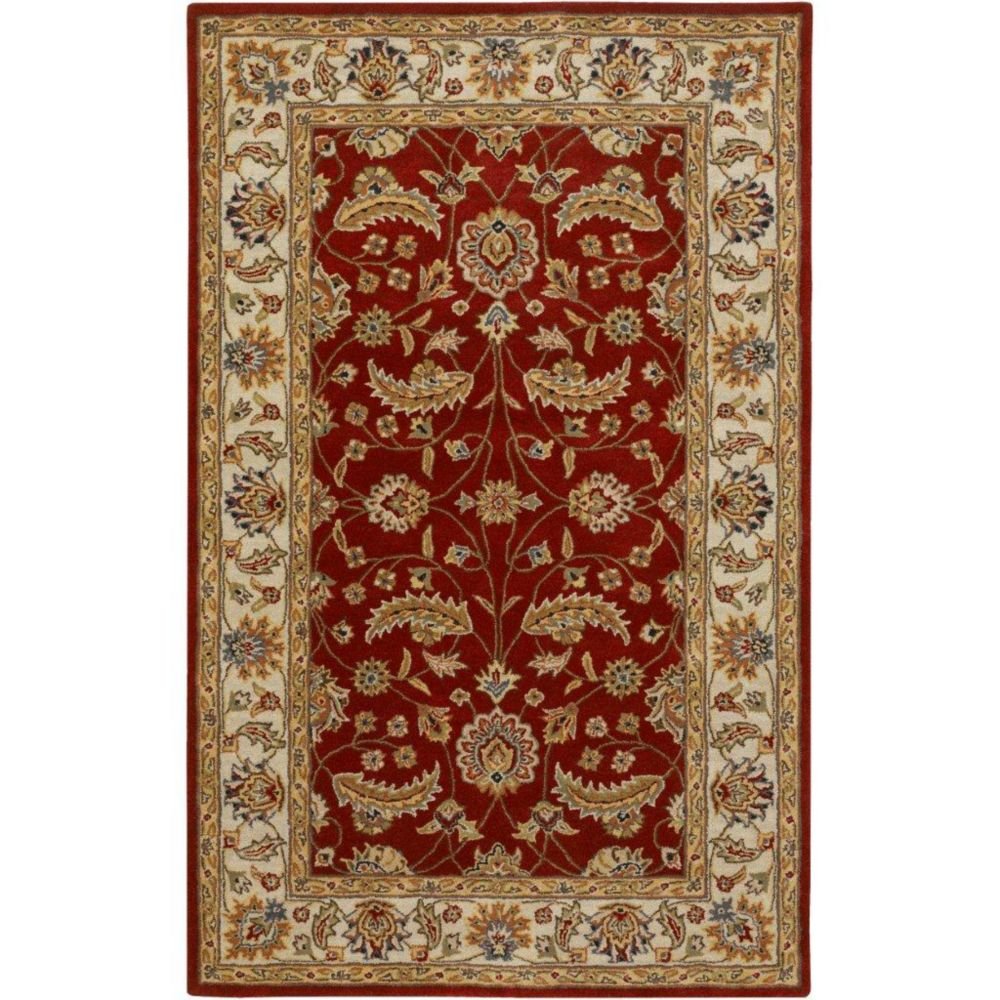 Brisbane Red Wool  - 7 Ft. 6 In. x 9 Ft. 6 In. Area Rug