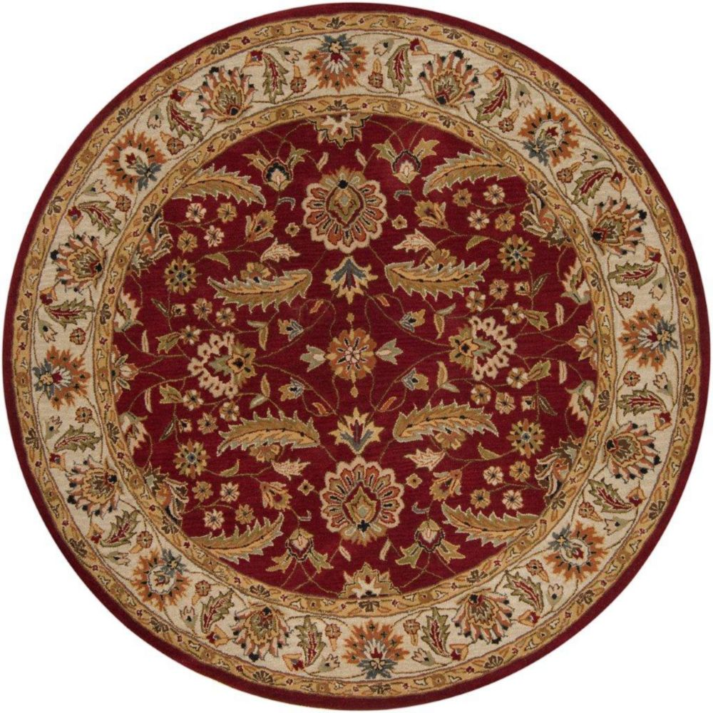 Brisbane Red Wool Round  - 8 Ft. Area Rug