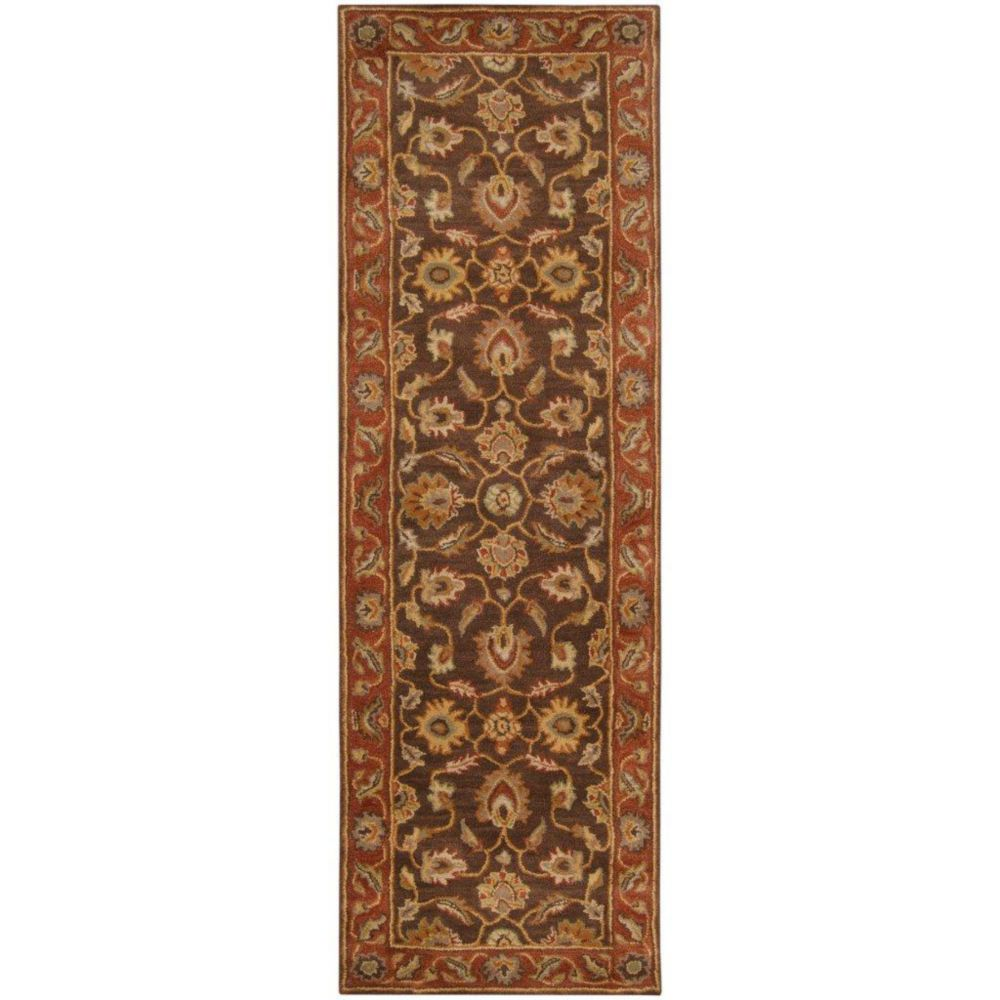 Cabris Chocolate Wool Runner - 2 Ft. 6 In. x 8 Ft. Area Rug