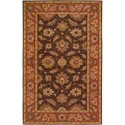 Artistic Weavers Cabris Brown 4 ft. x 6 ft. Indoor Traditional Rectangular Area Rug