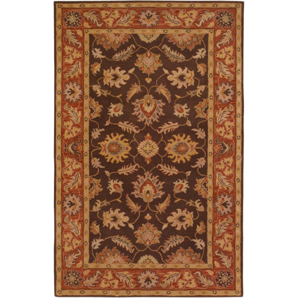 Cabris Chocolate Wool  - 5 Ft. x 8 Ft. Area Rug
