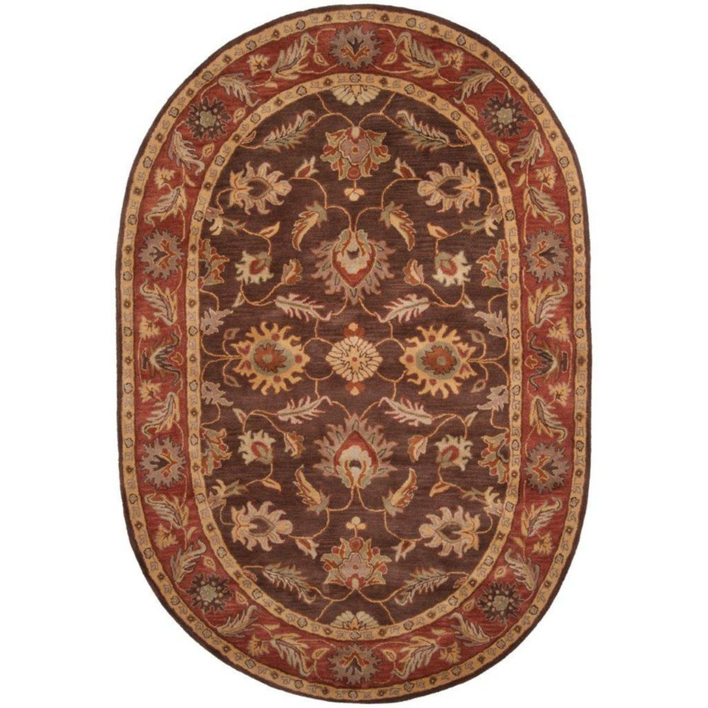 Cabris Chocolate Wool Oval  - 8 Ft. x 10 Ft. Area Rug
