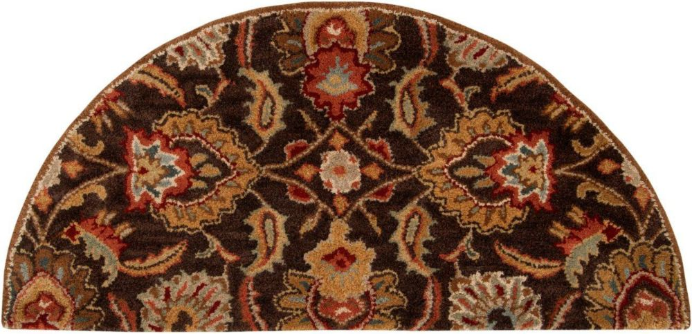 Calabasas Chocolate Wool Hearth Accent Rug - 2 Ft. x 4 Ft. Area Rug