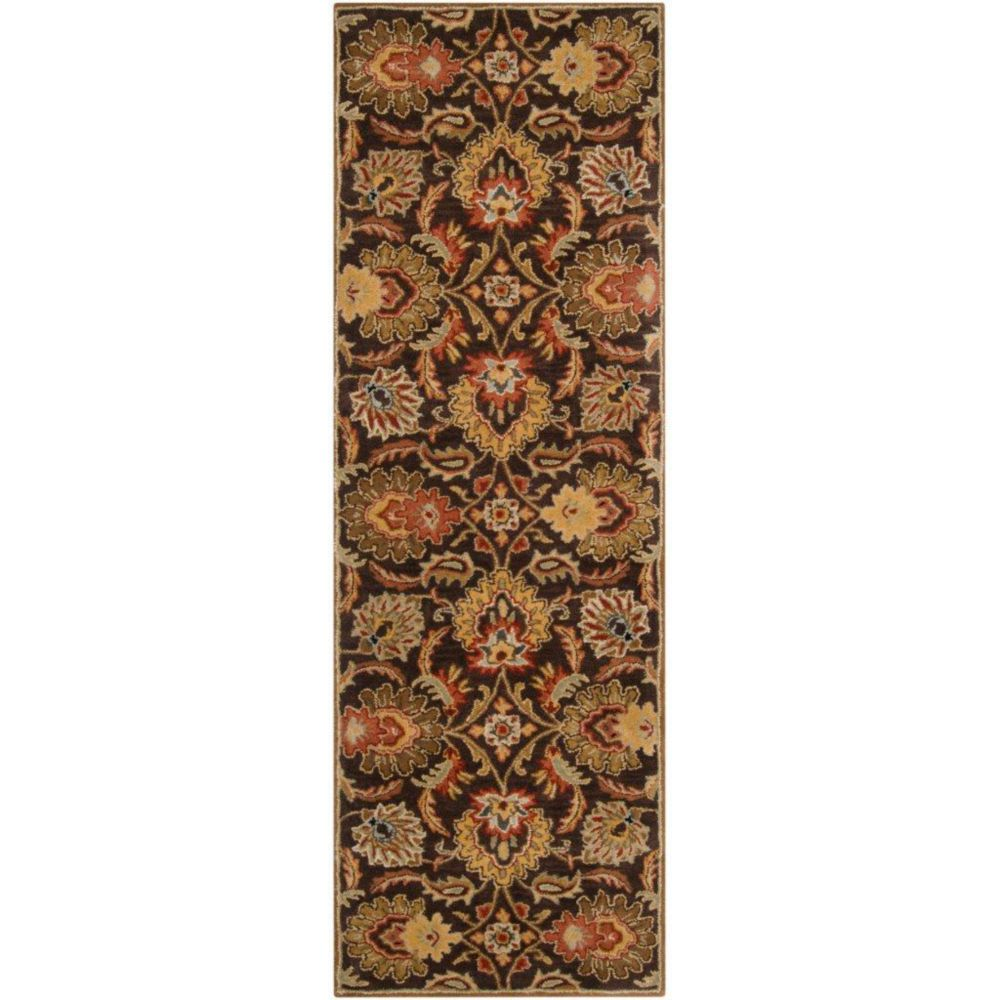 Calabasas Chocolate Wool Runner - 2 Ft. 6 In. x 8 Ft. Area Rug