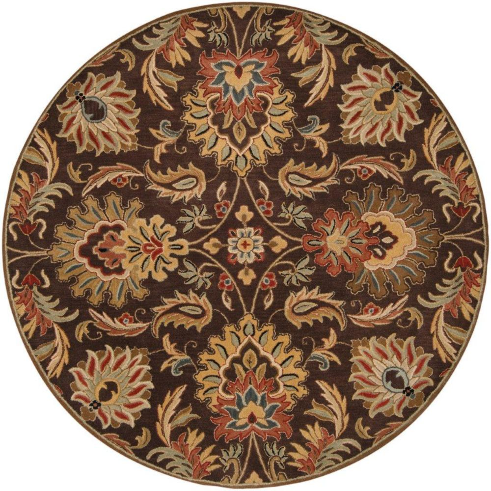 Calabasas Chocolate Wool Round  - 4 Ft. Area Rug