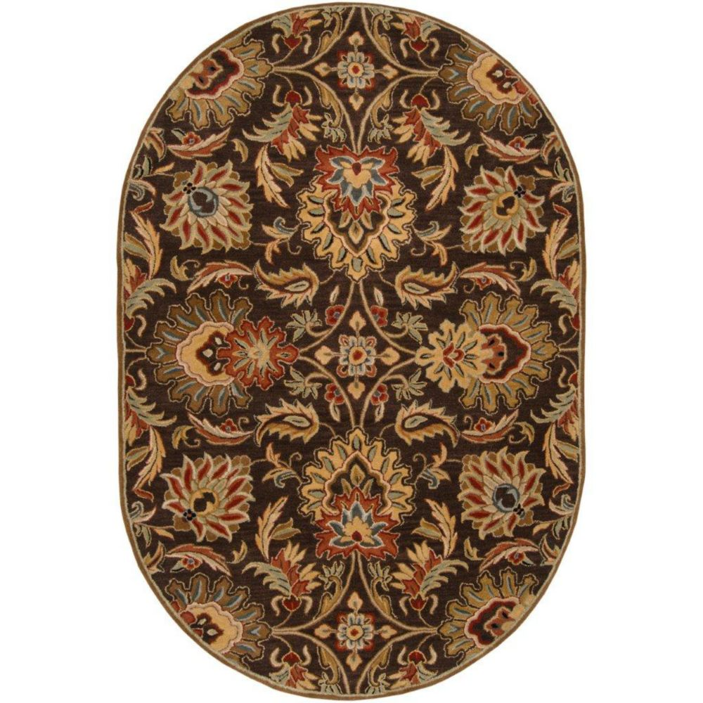 Calabasas Chocolate Wool Oval  - 6 Ft. x 9 Ft. Area Rug