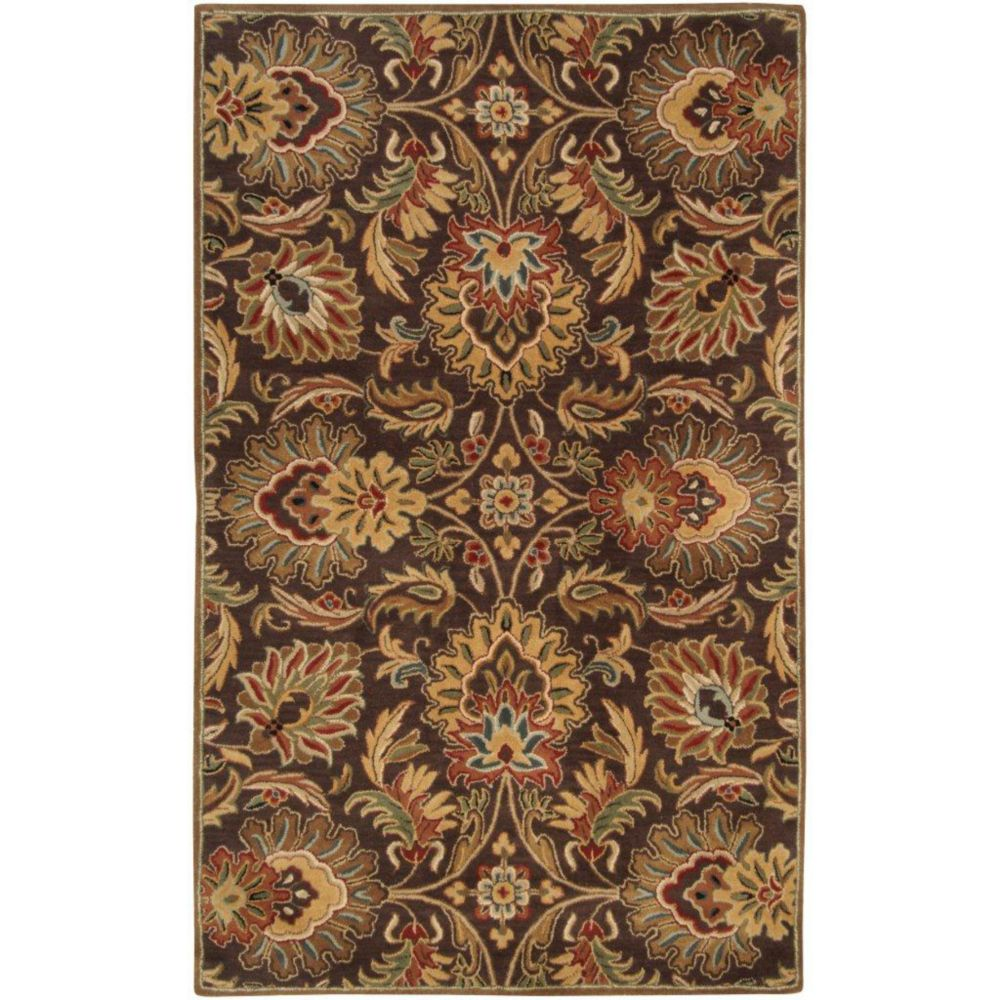 Calabasas Chocolate Wool  - 8 Ft. x 11 Ft. Area Rug