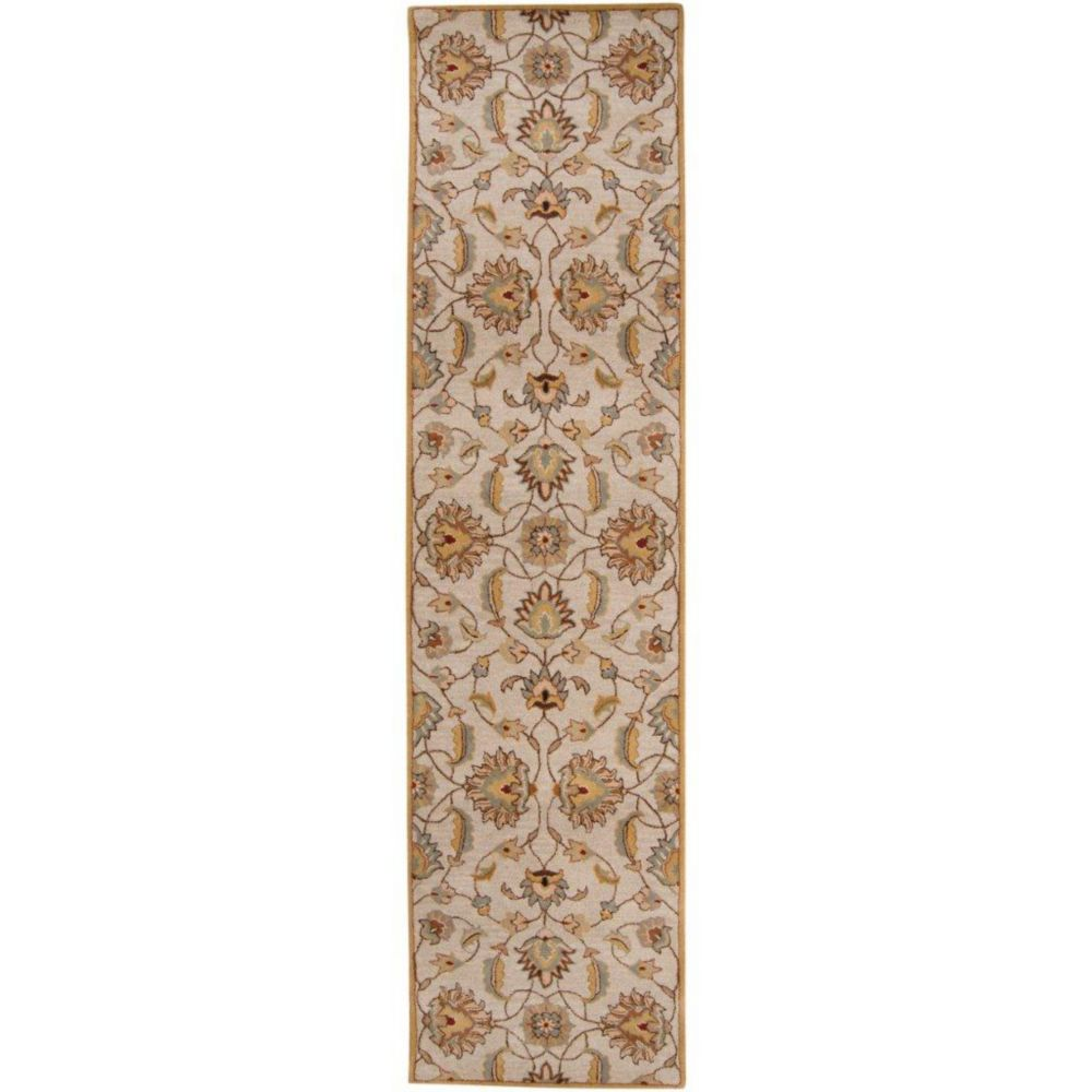 Calimesa Gold Wool  - 3 Ft. x 12 Ft. Area Rug