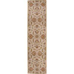 Artistic Weavers Tapis de passage d'intérieur, 3 pi x 12 pi, style transitionnel, or Calimesa