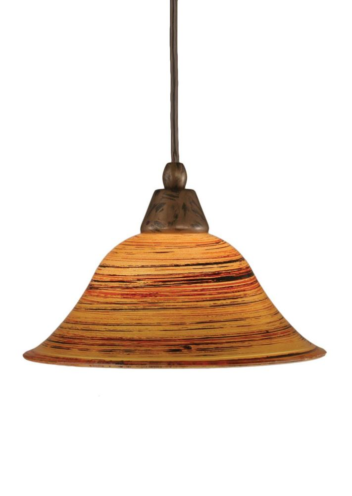 Concord 1 lumière au plafond Bronze Pendeloque incandescence par une  Saturne verre