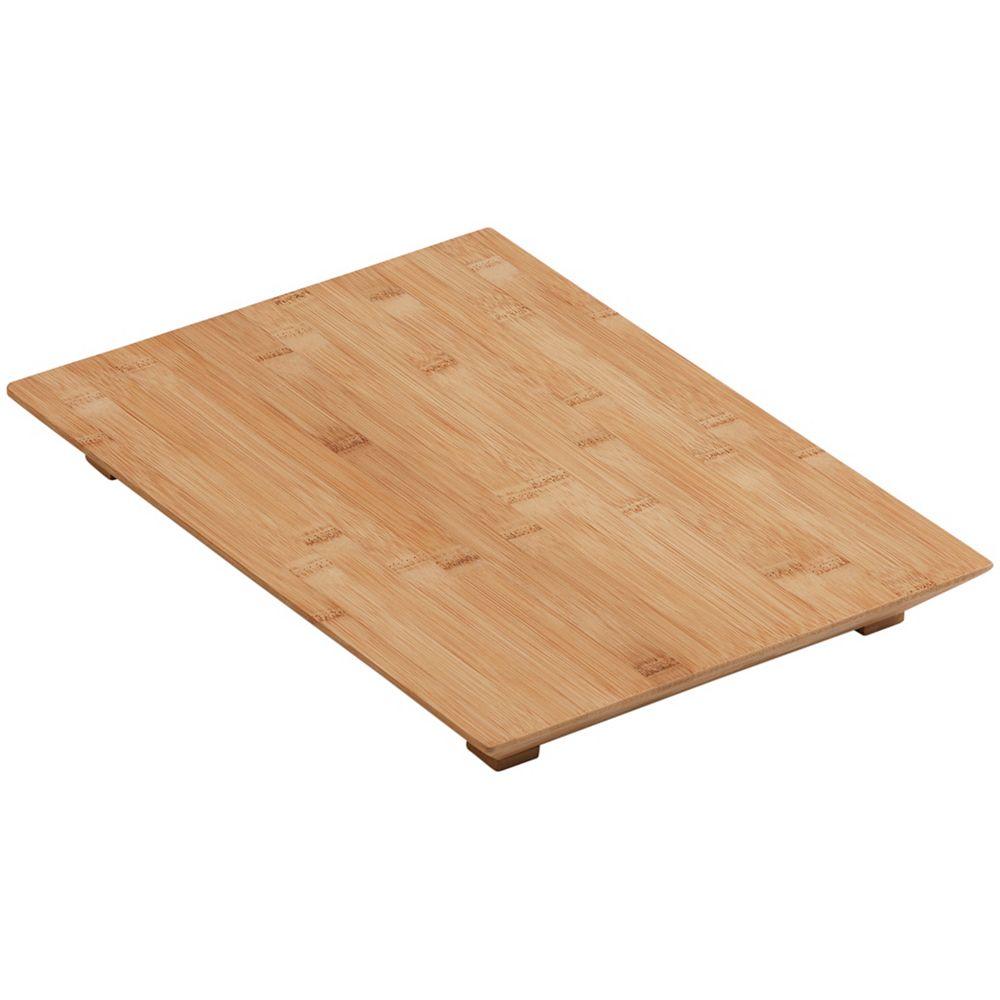 Planche a decouper en bois franc pour eviers de cuisine et de bar Poise et  15 Degree