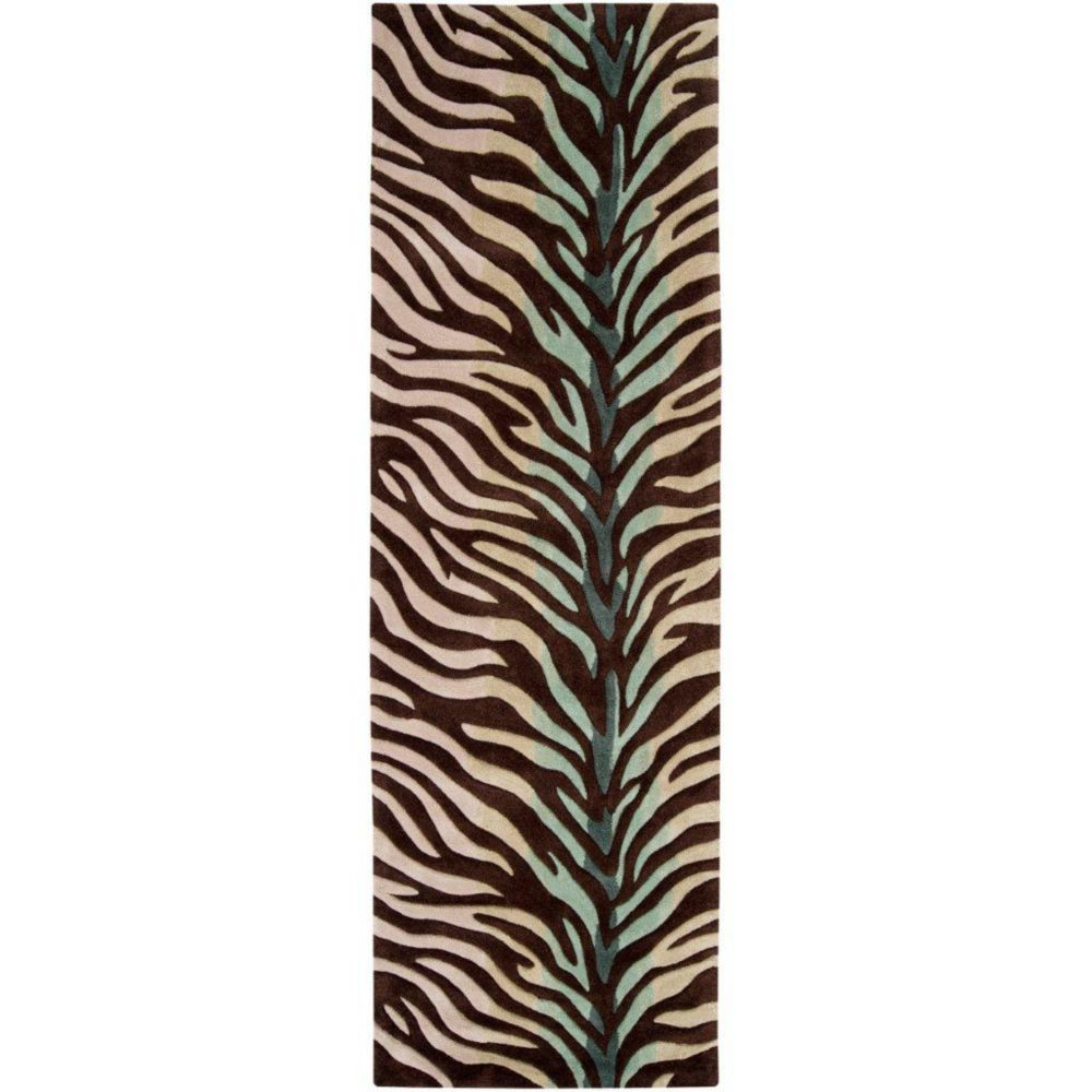 Jacou Chocolate Polyester 2 Feet 6 Inch x 8 Feet Runner