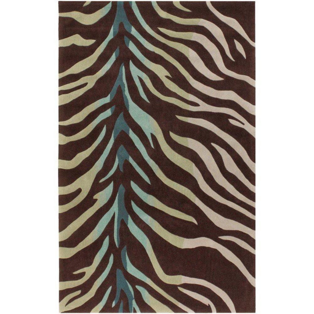 Jacou Chocolate Polyester 5 Ft. x 8 Ft. Area Rug
