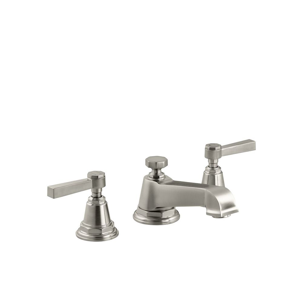 KOHLER Pinstripe(R) Pure widespread bathroom sink faucet with lever handles
