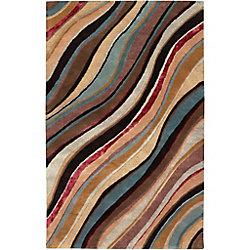 Artistic Weavers Carpette d'intérieur, 2 pi x 3 pi, style contemporain, rectangulaire, brun Alameda