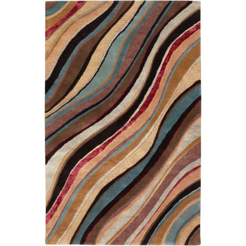 Artistic Weavers  Tapis Alameda chamois en laine de Nouvelle-Zélande 8 Pi. x 11 Pi.