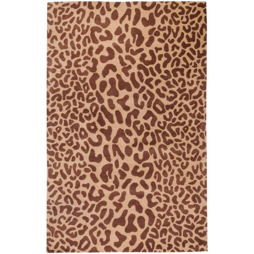 Alhambra Tan Wool 2 Feet x 3 Feet Accent Rug